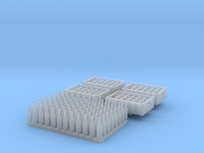O scale  - 96 bottles, 4 crates in Smoothest Fine Detail Plastic