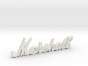 "Marshall Logo - 3.25"" for Pinball Speaker Panel in White Premium Versatile Plastic"