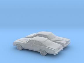 1/160 2X 1976 Pontiac Grand LeMans Sedan in Smooth Fine Detail Plastic