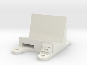ZMR 250: 15 Degree Action Cam Mount in White Natural Versatile Plastic