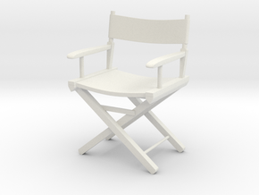 Director's Chair12cm in White Natural Versatile Plastic