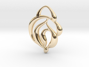 Touch of nature in 14k Gold Plated Brass