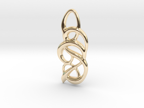 Messy thoughts in 14K Yellow Gold