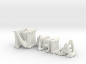 3dWordFlip: Nahla/Blanco in White Strong & Flexible