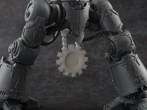 Cog (Filled) - Crotch Banner in Smoothest Fine Detail Plastic