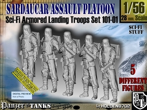 1/56 Sci-Fi Sardaucar Platoon Set 101-01 in Smooth Fine Detail Plastic