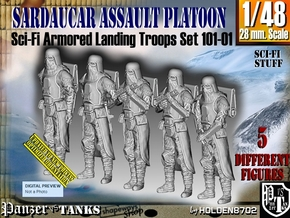1/48 Sci-Fi Sardaucar Platoon Set 101-01 in Frosted Ultra Detail