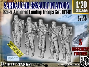 1/20 Sci-Fi Sardaucar Platoon Set 101-01 in White Strong & Flexible