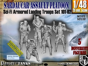1/48 Sci-Fi Sardaucar Platoon Set 101-02 in Smooth Fine Detail Plastic