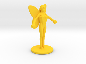 Flame Flyer Figure in Yellow Processed Versatile Plastic