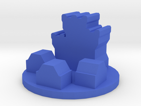 Game Piece, Dwarven City Token in Blue Processed Versatile Plastic