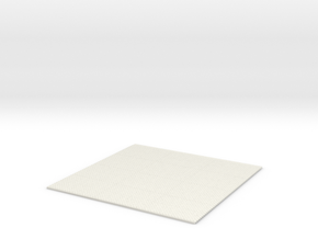 1/61 Fan Tile in White Natural Versatile Plastic