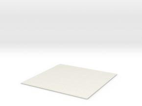 1/61 Fan Tile in White Natural Versatile Plastic