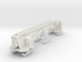 1/64 95' Tower Ladder Boom in White Natural Versatile Plastic