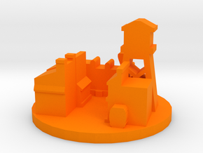 Game Piece, Wild West Town in Orange Processed Versatile Plastic