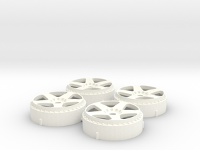 MST / Rays Nismo LM GT2 Insert (x4) in White Processed Versatile Plastic