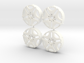 MST / Trafficstar RTV Insert (x4) in White Processed Versatile Plastic