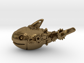 Pottwal-Steampunk in Natural Bronze