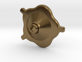 """1.5"""" scale South African Small Valve Handwheel in Raw Bronze"""