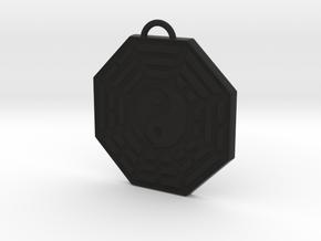 Bagua Pendant in Black Natural Versatile Plastic