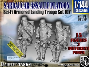 1/144 Sci-Fi Sardaucar Platoon Set 107 in Smooth Fine Detail Plastic