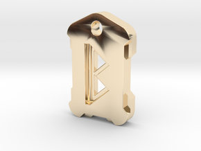 Nordic Rune Letter B in 14k Gold Plated Brass