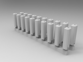 Bolt Rifle Suppressors Angular v1 x20 in Frosted Extreme Detail