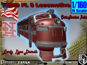 1-160 EMD FL 9 Locomotive in White Natural Versatile Plastic