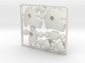 Ultra-poseable Chest Upgrade Kit for ModiBot in White Natural Versatile Plastic