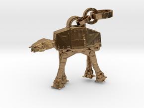 Robot Pendant in Natural Brass (Interlocking Parts)