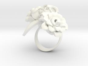 dia de los Muertos rose in White Processed Versatile Plastic: 8 / 56.75