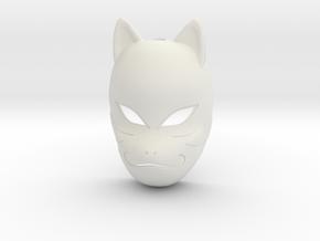Naruto Shippuden - Kakashi Anbu Mask Pendant in White Strong & Flexible