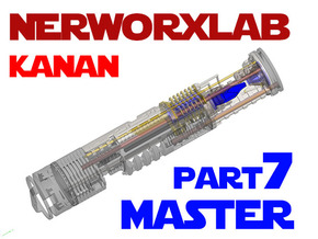 NWL Kanan - Master Part7 Lightsaber Chassis in Smooth Fine Detail Plastic