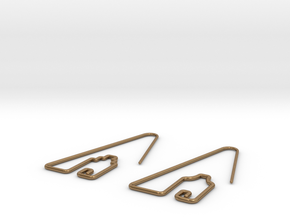 Amsterdam Canal Houses Earrings in Raw Brass