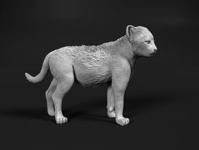 Cheetah 1:15 Standing Cub in White Natural Versatile Plastic