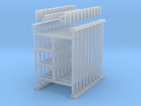 'HO Scale' - 5'x6.5' Scaffolding in Smooth Fine Detail Plastic