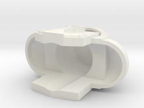 Man-e-faceshelm in White Natural Versatile Plastic