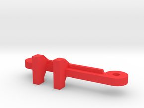 MagDragster RC Steering Rod in Red Processed Versatile Plastic
