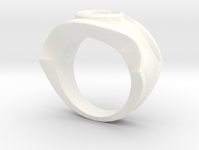 david's logo ring in White Processed Versatile Plastic: 8 / 56.75
