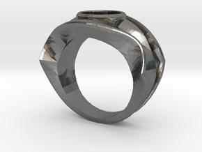 david's logo ring in Polished Nickel Steel: 8 / 56.75