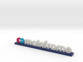 Mainframe Logo Dark Blue in Full Color Sandstone