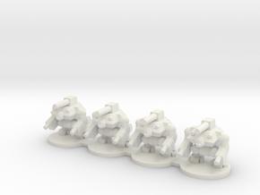 Hobgoblin War Robots (50% larger version) in White Natural Versatile Plastic