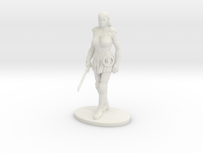 Xena Miniature in White Natural Versatile Plastic: 1:55