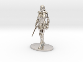Xena Miniature in Rhodium Plated Brass: 1:60.96