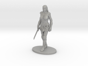 Xena Miniature in Raw Aluminum: 1:60.96