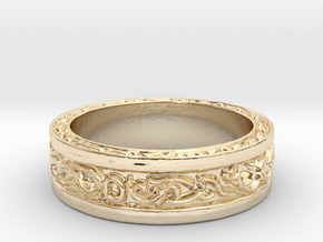 DarkMoon Ring Dark Souls in 14K Yellow Gold: 5 / 49
