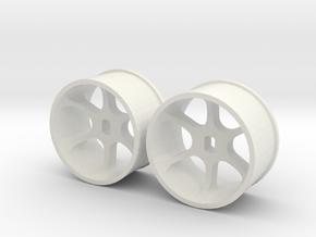 4WD - jantes arrière in White Natural Versatile Plastic