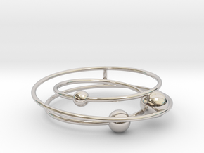 Mystery Planet (New version) in Rhodium Plated Brass