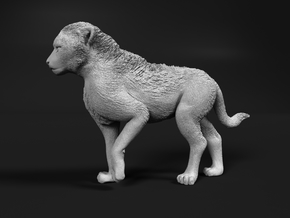 Cheetah 1:15 Walking Cub in White Natural Versatile Plastic