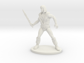 Thundarr the Barbarian Miniature in White Natural Versatile Plastic: 1:60.96